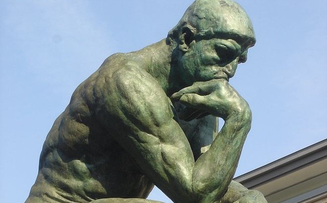 The Thinking Man sculpture at Musée Rodin in Paris (Photo credit: Wikipedia)